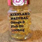 อาหารเสริม KIRKLAND SIGNATURE FISH OIL OMEGA 3 1000mg 400 Softgels