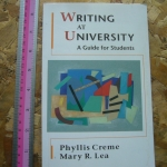 Writing At University: A Guide For Students