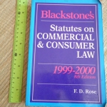 Blackstone's Statutes on Commercial & Consumer Law 1999-2000 (8th Edition)