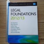 Legal Foundations 2012/13