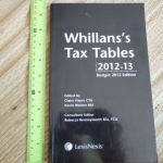 Whillans's Tax Tables 2012-13 (Budget 2012 Edition)
