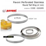 Pavoni Perforated Stainless Round Tart Ring 19*2 cm (XF1920)