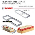 Pavoni Perforated Stainless Rectangular Tart Ring 8*19 cm (XF07)