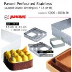 Pavoni Perforated Stainless Rounded Square Tart Ring 8.5 * 8.5 (XF 01)