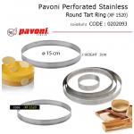 Pavoni Perforated Stainless Round Tart Ring 15*2 cm (XF1520)