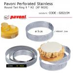 Pavoni Perforated Stainless Round Tart Ring 9*2 cm (XF9020)