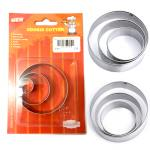 Metal cookie cutter set round shape TC1107