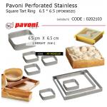 Pavoni Perforated Stainless Square Tart Ring 6.5 * 6.5 cm (XFO656520)