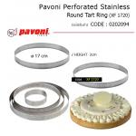 Pavoni Perforated Stainless Round Tart Ring 17*2 cm (XF1720)