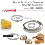 Pavoni Perforated Stainless Round Tart Ring 7*2 cm (XF 0720)