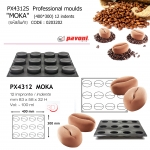 """PX4312S Professional moulds 400*300 """"Moka"""" 12 indents"""