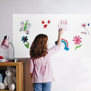 White Board Sticker 90x200cm Whiteboard Wall Sticker Dry Erase Self Adhesive Kids Room