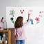 White Board Sticker 90x200cm Whiteboard Wall Sticker Dry Erase Self Adhesive Kids Room thumbnail 1