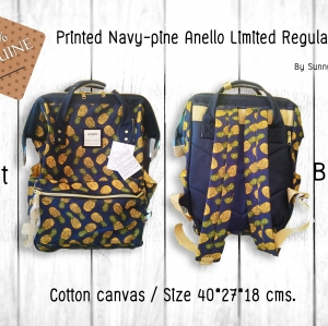 Printed Navy-pine Anello Limited Regular size พร้อมส่ง!!