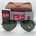 Ray-Ban RB3026 L2821 Aviator Black Frame G-15 Lenses 62mm