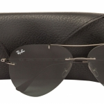 Ray Ban Aviator TECH RB8055 004/71 Gunmetal Ultra light rimless frame