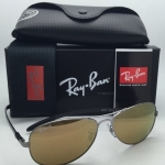 RAY BAN RB8301 004/N3 Carbon Fiber Tech Gold mirror polarized