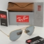 Ray Ban RB3025 112/W3 Aviator MATTE SILVER / POLARIZED SILVER MIRROR 58mm