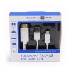 MHL Micro USB to HDMI 1080P HD TV Cable Adapter For Samsung Galaxy S3/4/5 Note 2/3
