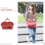 Mini Anello Boston shoulder Bag Dark Orange (สีแดง) thumbnail 8