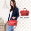 Mini Anello Boston shoulder Bag Dark Orange (สีแดง) thumbnail 6