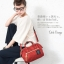 Mini Anello Boston shoulder Bag Dark Orange (สีแดง) thumbnail 7