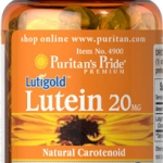 ช่วยการมองเห็น Puritan's Pride Lutein 20 mg with Zeaxanthin / 30 softgels