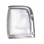 03-332 R/L Clear, Chrome Side Direction Indicator Lamp, Clear Lens, Chrome Housing