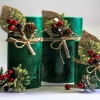 Pine Wreath Candle
