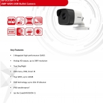 DS-2CE16F1T-IT1/IT3/IT53MP EXIR Bullet Camera 3.6mm.,6mm.8mm
