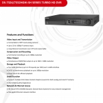 DS-7332HGHI-SH TurboHD DVR 32 Port HD DVR 1080P Full HD