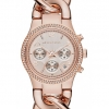 นาฬิกา Michael Kors ไมเคิล คอร์ รุ่น MK3247 Runway Twist Rose-Gold Stainless Bracelet Womens Watch