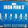 Kids Nation Iron Man 3 EarPhone Plugy series 003 Set of 6 NEW