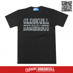 เสื้อยืด OLDSKULL : ULTIMATE DANGEROUS | LIGHT BLACK