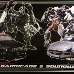 Transformers Asia Premium Series APS-03 Barricade & Soundwave NEW