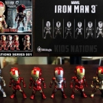 Kids Nation Iron Man 3 EarPhone Plugy series 001 Set of 6 NEW