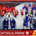 Transformers Age of Extinction Optimus Prime Evolution 2-Pack NEW