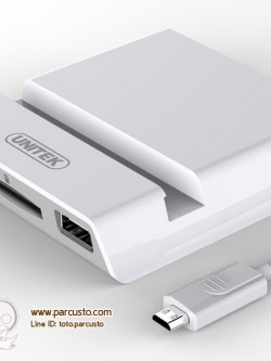 OTG USB HUB 2 Ports + Card Reader จาก UNITEK [Pre-order]