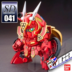 "SD ""KURENAI MUSHA"" RED WARRIOR AMAZING"
