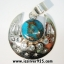 Copper Blue Turquoise & Blue Topaz จี้เงินแท้ 925 (5.1g) thumbnail 1