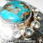 Copper Blue Turquoise & Blue Topaz จี้เงินแท้ 925 (5.1g) thumbnail 4