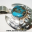 Copper Blue Turquoise & Blue Topaz จี้เงินแท้ 925 (5.1g) thumbnail 3