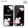 LOFTER Black Pets Full Cover - Rabbit (iPhone7+)