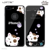 LOFTER Black Pets Full Cover - Sleeping Cat (iPhone7+)