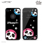 LOFTER Black Pets Full Cover - Panda (iPhone7+)