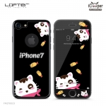 LOFTER Black Pets Full Cover - Cat (iPhone7)