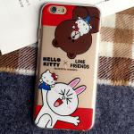 4.BrownCony (Red) 1.2 - เคสยาง iPhone 6 Plus / 6S Plus