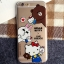 เคสยาง 1.2mm Kitty x Line Friends 4 แบบ - เคส iPhone 6 / 6S thumbnail 4