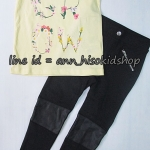 SP013 H&M T-Shirt + H&M Black Legging sz 4-6,6-8 ปี