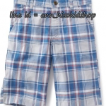 1761 Old navy Flat-Front Twill Shorts - Blue ขนาด 16 ปี